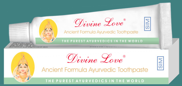 © SIM for Divine Love Ancient Formula Ayurvedic Toothpaste